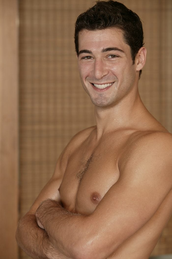 Shirtless man for gynecomastia surgery in OKC page